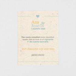 Tarjeta adicional confeti dorado