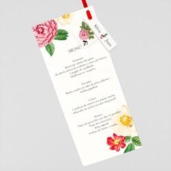 Menu para boda claveles chinos