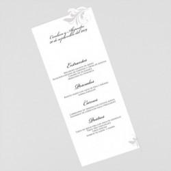 Menu para boda portada grafito con tarjetas