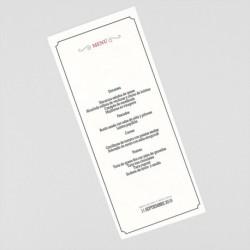 Menu para boda Paris avion portada tarjetas embarque