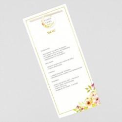 Menu para boda decoracion floral
