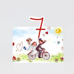 Numero para la mesamama y papa se casan bicicleta