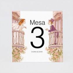 Numero para la mesanovios balcon