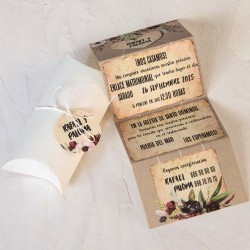Invitación de boda caja marfil