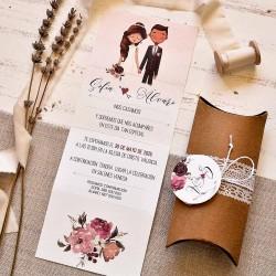 Invitación de boda caja kraft