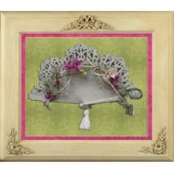 Cuadro madera abanico novia