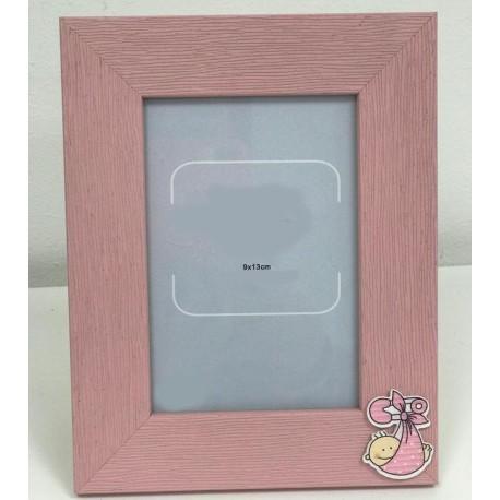 Portafoto madera rosa bautizo