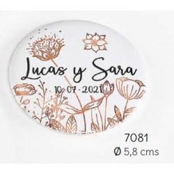 Chapa abrebotellas-imán flores personalizada