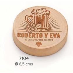 Abrebotellas-imán madera jarra personalizado novios