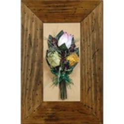Cuadro madera rustico-carcoma ramo novia