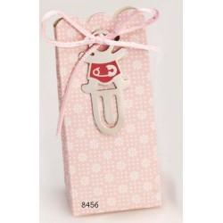 Cajita marcapáginas bebé rosa c/4 peladillas