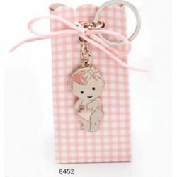 Cajita llavero bebé niña pañal c/4 peladillas