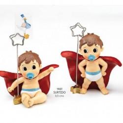 Sujeta-tarjetas bebé super héroe stdo