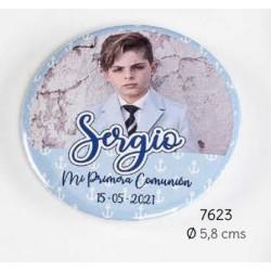 Chapa abrebotellas-imán foto niño comunión personalizada