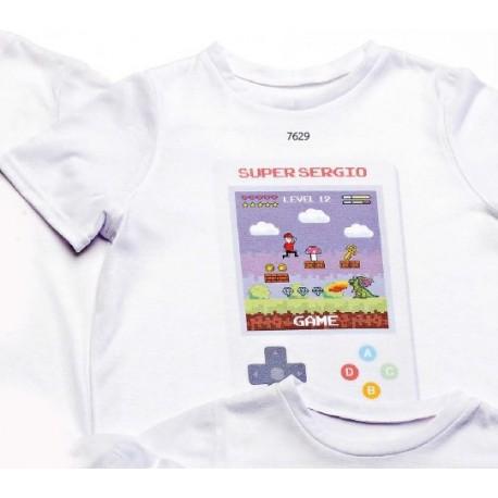 Camiseta video-juego nombre personalizado