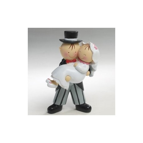 Figura de tarta novia en brazos
