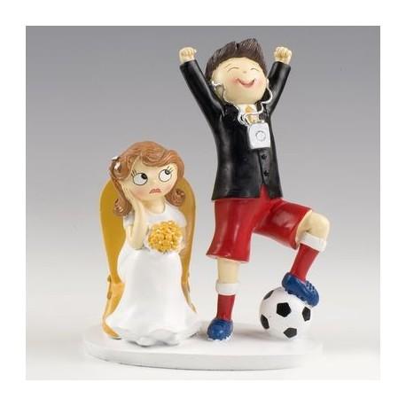 Figura pastel novios futbolista Pop & Fun