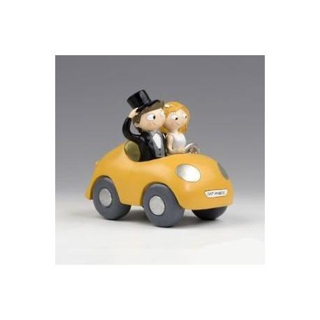 Figura tarta novios Pop & Fun en coche