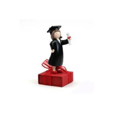 Figura graduacion chica 8 bombones