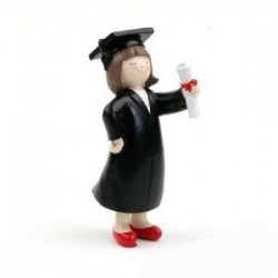 Figura tarta graduacion chica
