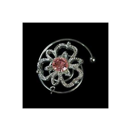 Espiral trebol rosa