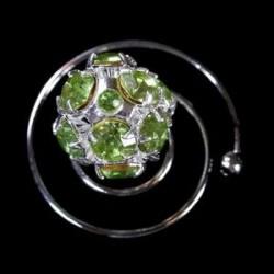 Espiral Swarowsky verde