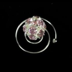 Espiral Swarowsky rosa