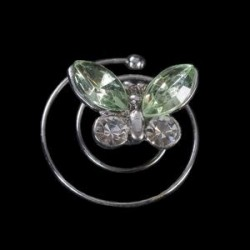 Espiral mariposa cristal verde