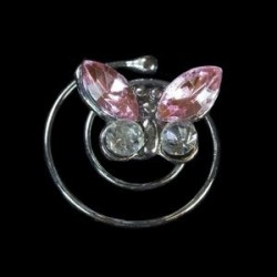 Espiral mariposa cristal rosa