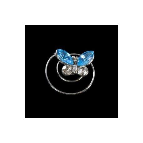 Espiral mariposa cristal azul