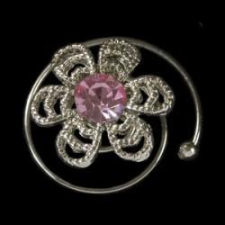 Espiral margarita rosa