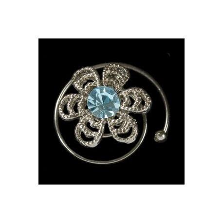 Espiral margarita azul