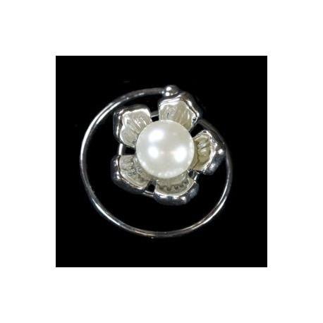Espiral flor perla V