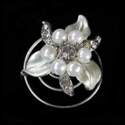Espiral flor perla