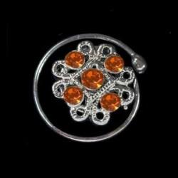 Espiral cristales filigrana naranja