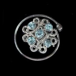 Espiral cristales filigrana azul