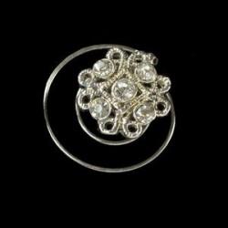 Espiral cristales filigrana