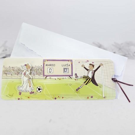 Invitación de boda Granate