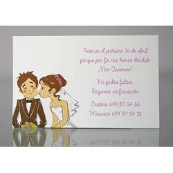 Tarjeta complemento invitación de boda Geranio Citronela