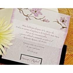 Invitación de boda acacia