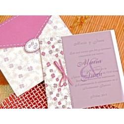 Invitación de boda azafrán