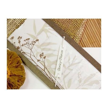 Invitación de boda bambú