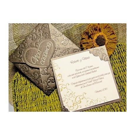 Invitación de boda centaurea