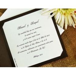 Invitación de boda cincoenrama