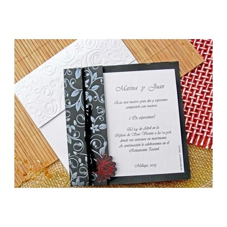 Invitación de boda adelfa