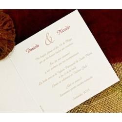 Invitación de boda calendario tribal