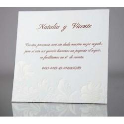 Tarjeta complemento invitación de boda Estramonio