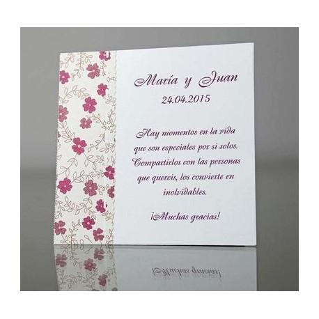 Tarjeta complemento invitación de boda Palometa
