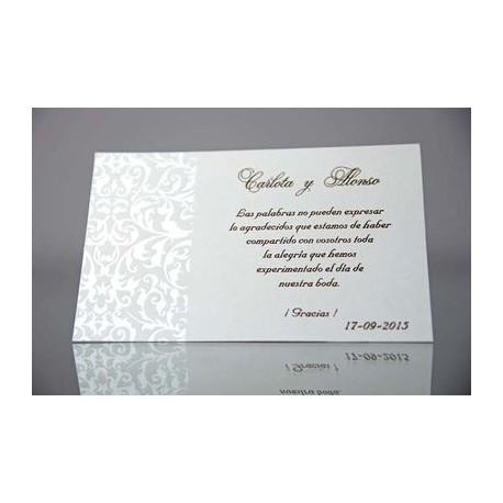 Tarjeta complemento invitación de boda Picatoste