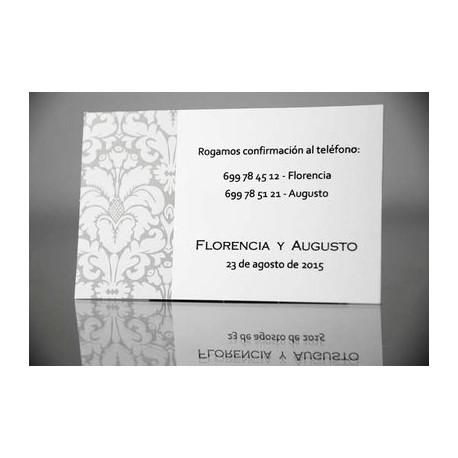 Tarjeta complemento invitación de boda Agastache